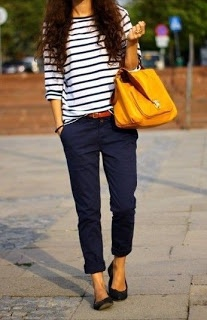 Fabulous with a classic breton top…